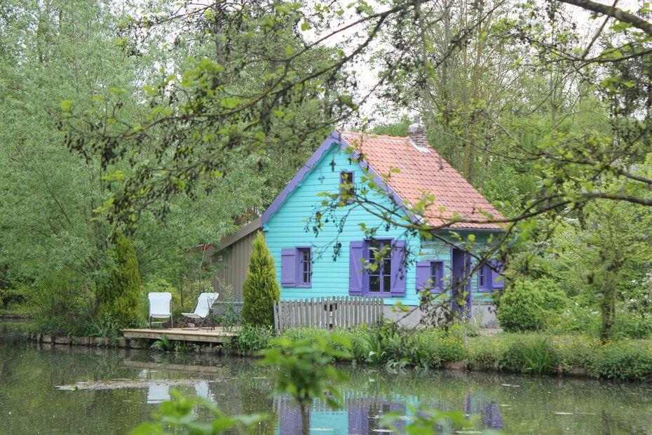 Amiens gites cabanes hortillonnages gite cabane insolite amiens hortillonnages houses gite - Chambre d hotes baie de somme bord de mer ...