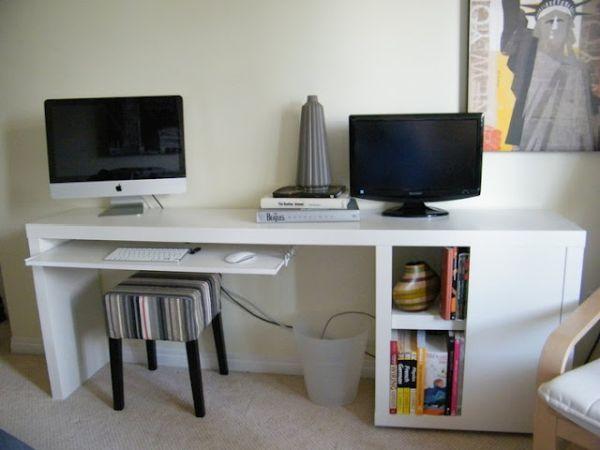 How To Make A Wall Desk With A Customized Design Slim Desks Ikea Desk Diy Desk