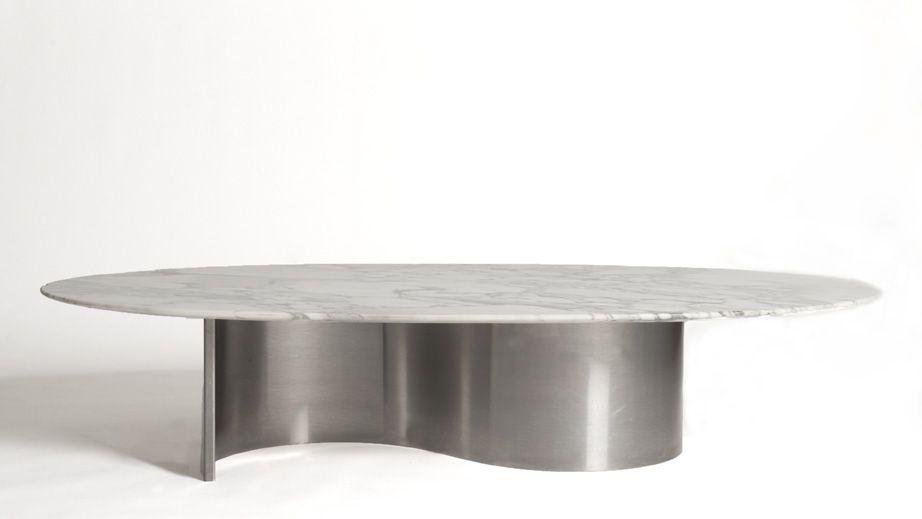table basse en marbre designer anonyme