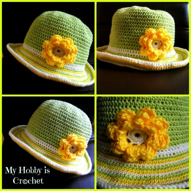 How to crochet the brim of a sun hat look at page…it\'s a list of all ...