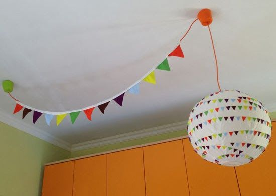 Ikea Kinderzimmerlampe ~ Ikea hacks regolit fabric bunting kids decor