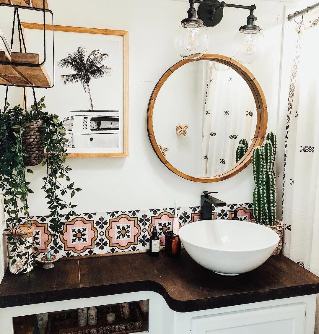 Tiny Bathroom Washing Machine Bathroompaint2018 Bathroomideashos Code 2754831614 Vinyl Tile Boho Bathroom Tile Bathroom