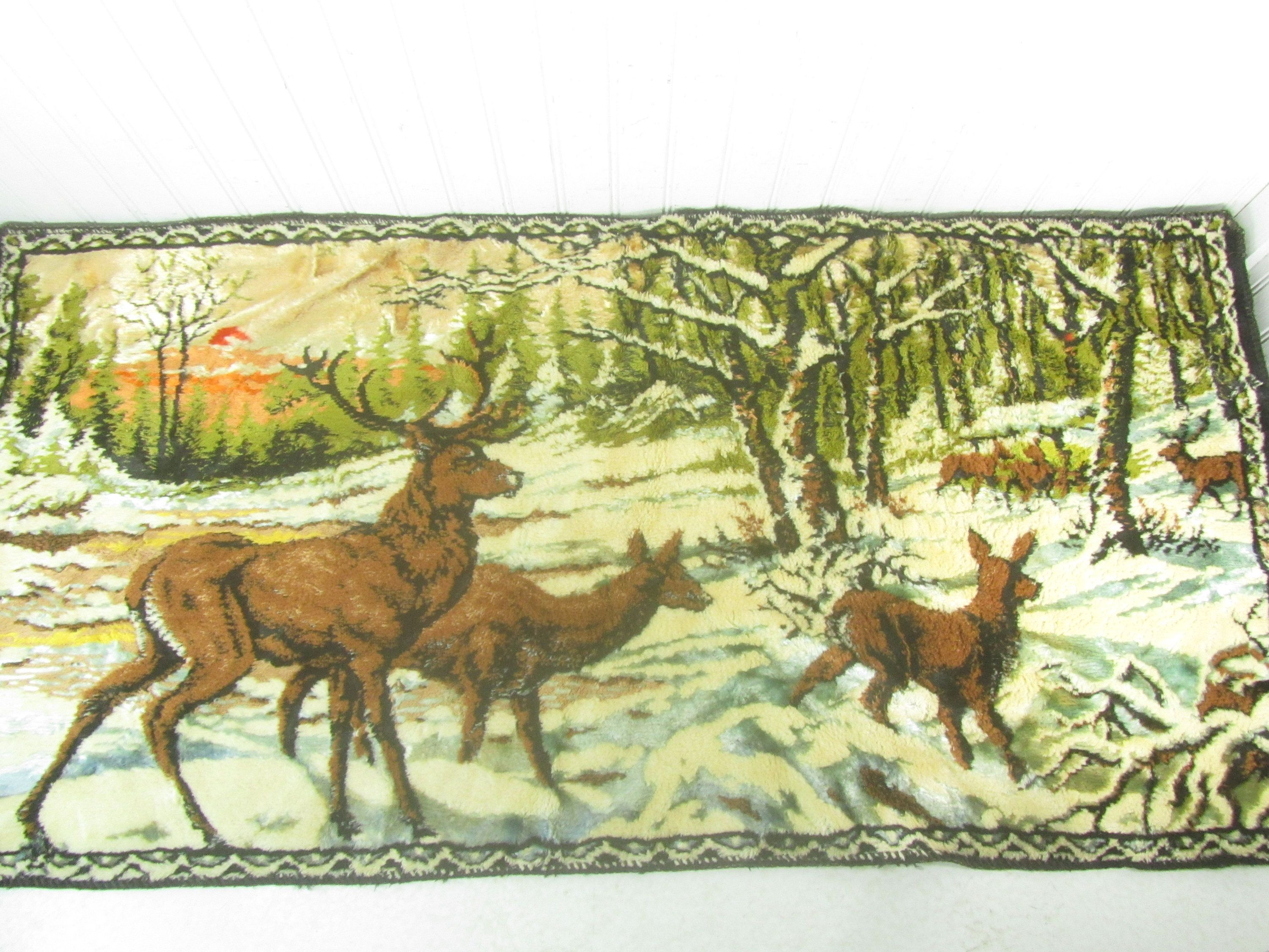 Tapestry, wall hanging, Deer tapestry, hunting scene, by ...