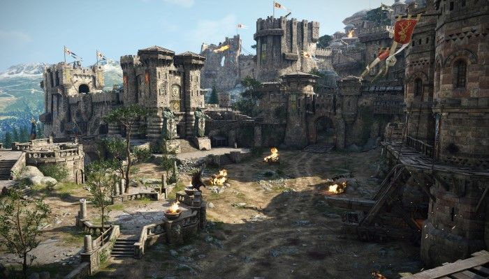 For Honor Shows Off Pvp Combat At Pax West Fantasy Landscape Fantasy Castle Fantasy Places