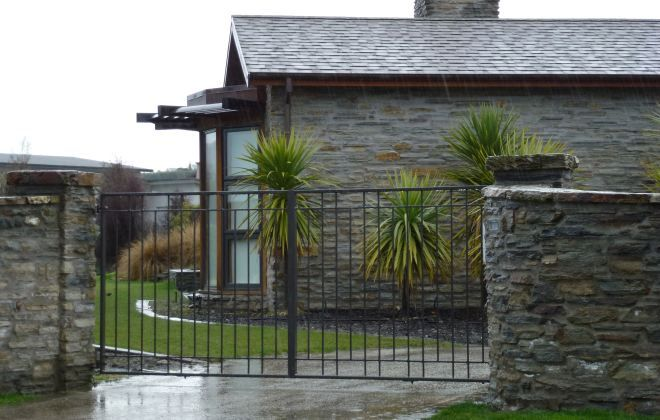 High Quality Macrocarpa Post And Rail Fencing Custom Made Gates Rock Retaining Walls Landscaping Item Fence Design Traditional Landscape Rock Retaining Wall