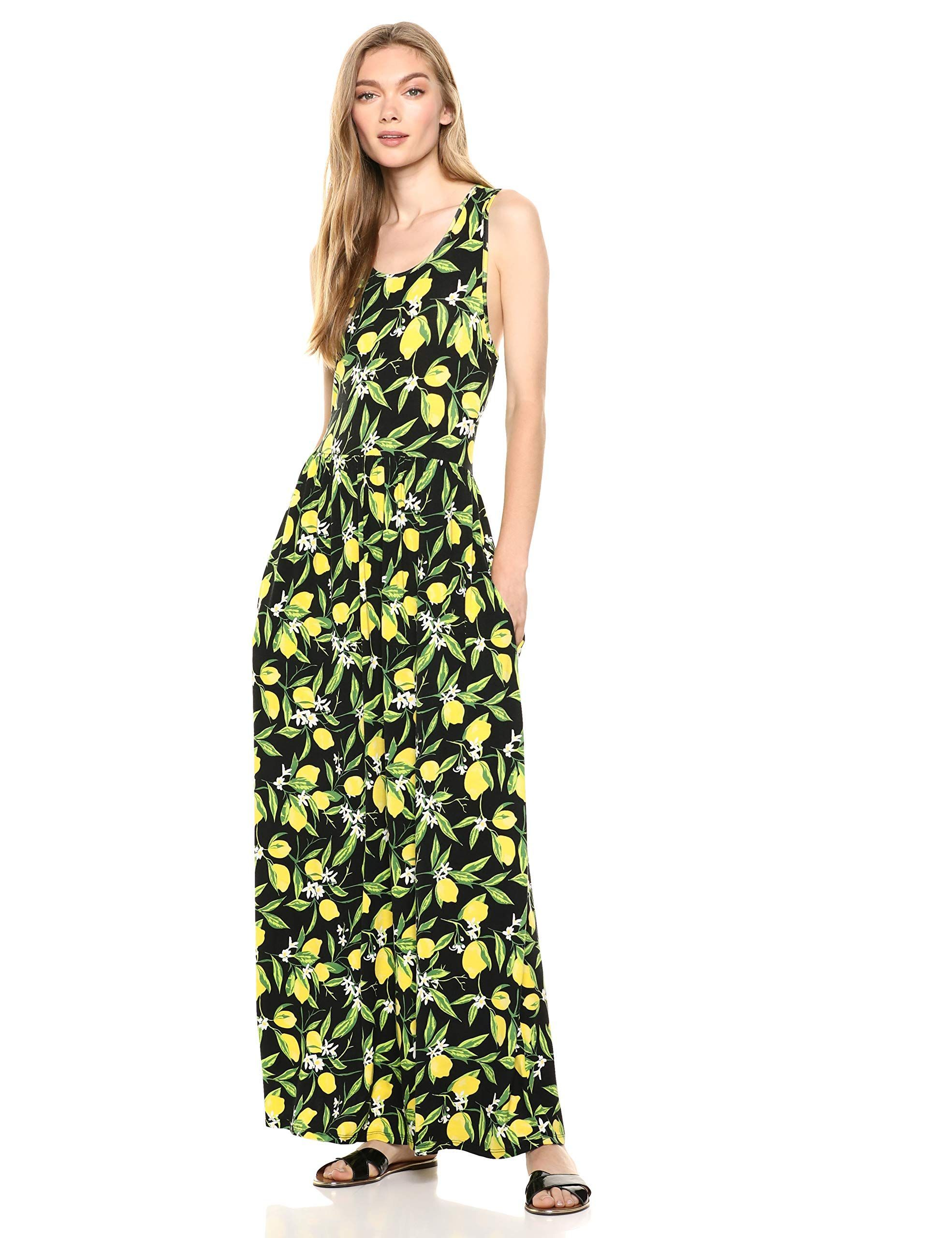 Amazon Brand 28 Palms Women S Tropical Hawaiian Print Sleeveless Maxi Dress With Pockets Maxi Dress Sleeveless Maxi Dress Floor Length Maxi Dress [ 2560 x 1969 Pixel ]