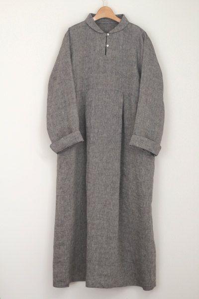 LINNET Pattern / No99 Standing Shawl Collar Dress   Nähtipps
