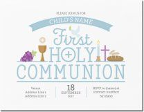 First Communion Religious Invitations Announcements Designs