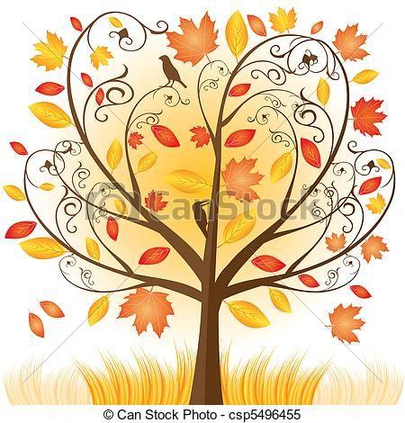 Clip Art Images Herbst Clipart Vektor Von Schöne Herbst Baum