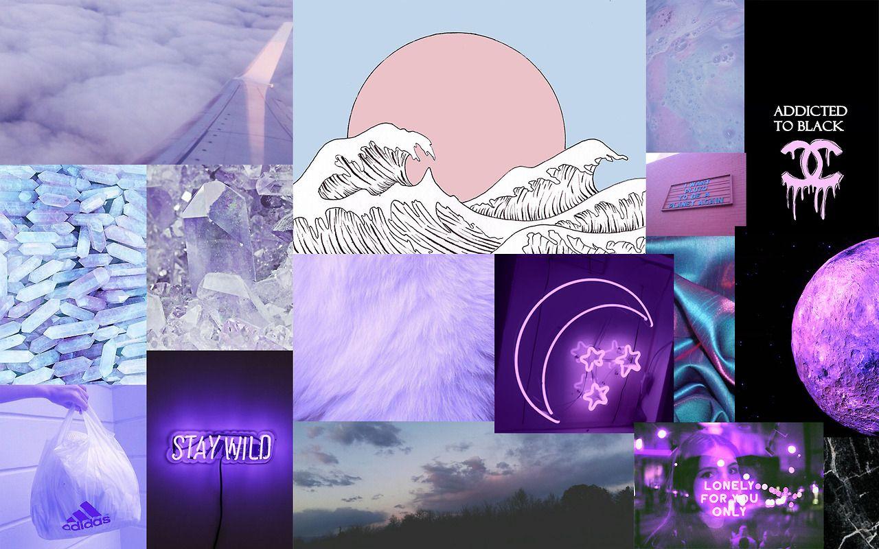 Purple Aesthetic. Laptop Background. Reblog if