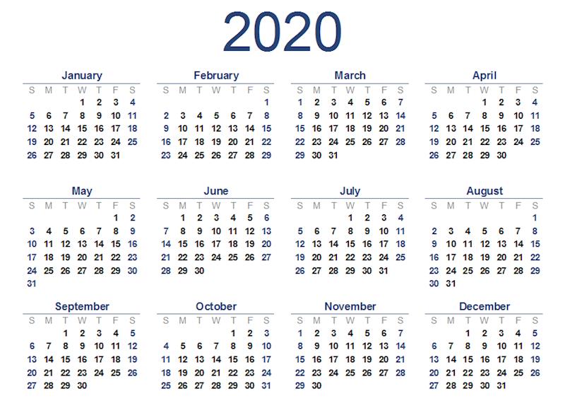 12 Month Calendar 2020 Edition Wall Calendar 12 Month