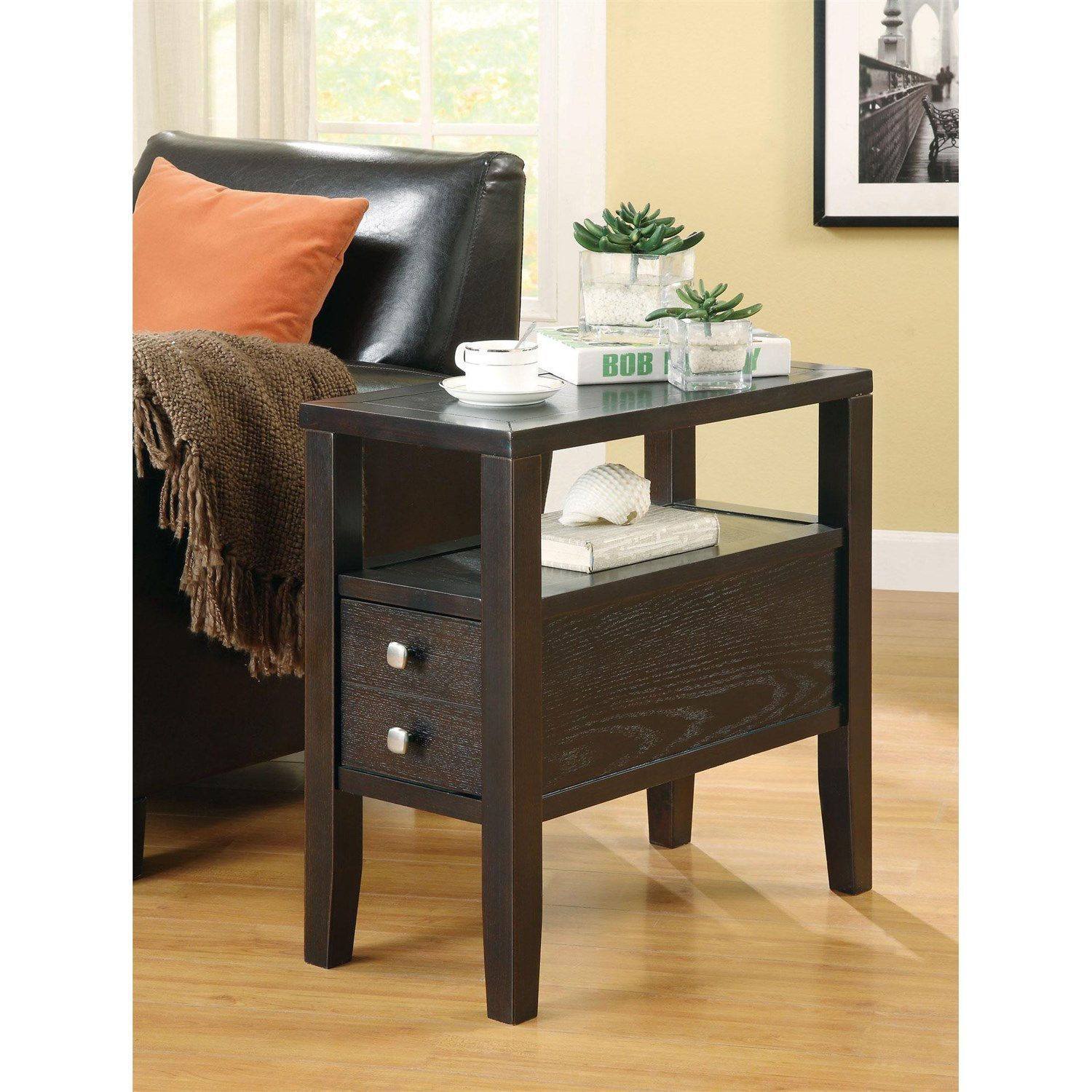 Coaster Furniture 900991 Casual Storage Chairside Table