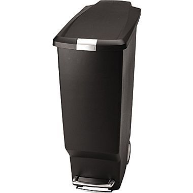 Simplehuman Indoor Step Trash Can Black Plastic 10 5 Gal Cw1361 At Staples Simplehuman Trash Can Kitchen Trash Cans