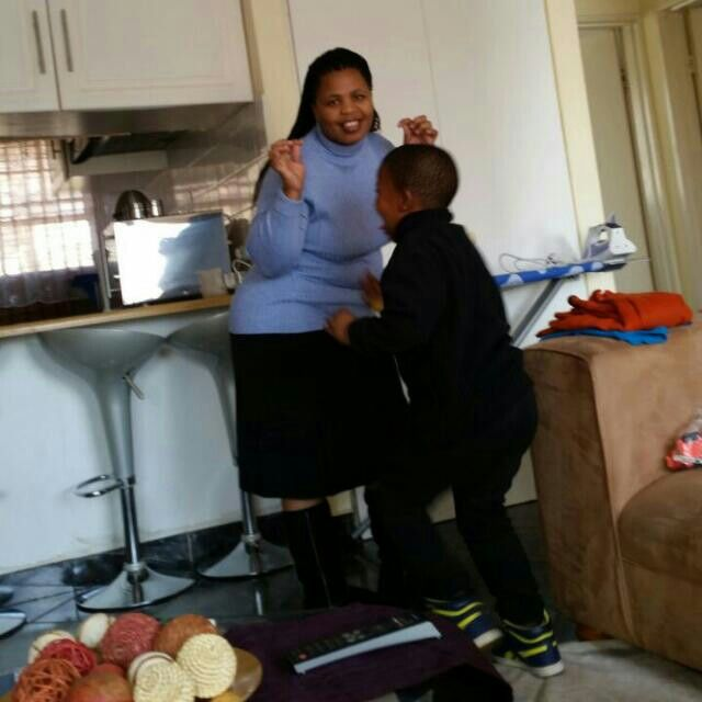 My wife and my son
