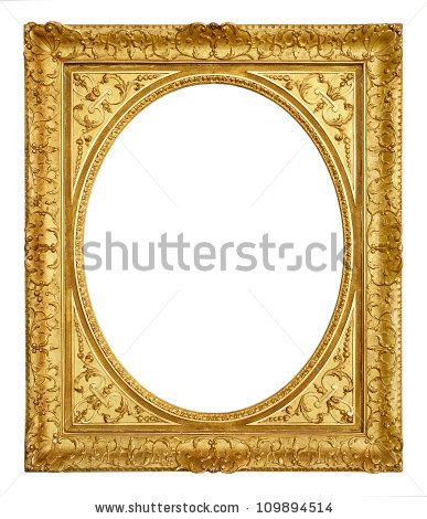 Gold Vintage Frame Isolated On White Background Vintage Frames White Background Round Mirror Bathroom