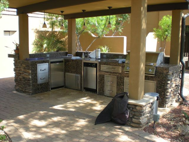 Awesome Outdoor Living Scottsdale Desert Green Creations Arizona Adorable Outdoor Kitchen Designers Design Ideas