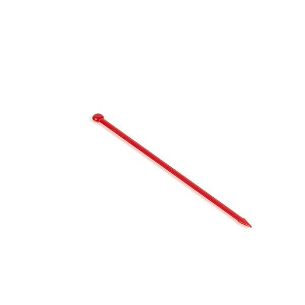 "3.5"" Red Ball End Arrow Pick	  Arrow picks are a classic item for any establishment serving food & beverages. We enjoy launching these mini arrows with our mini bows, but they're also good for holding fruit in your cocktail or keeping your sliders intact."