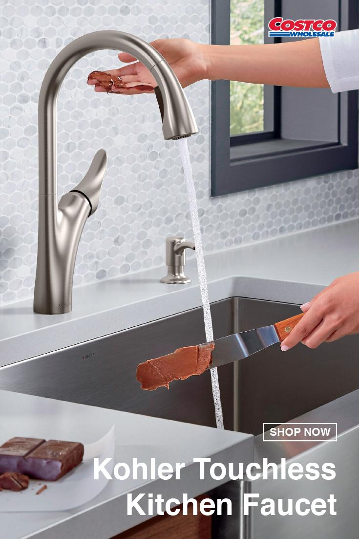 Kohler Transitional Touchless Kitchen Faucet Touchless Kitchen Faucet Kitchen Faucet Kitchen Sink Faucets