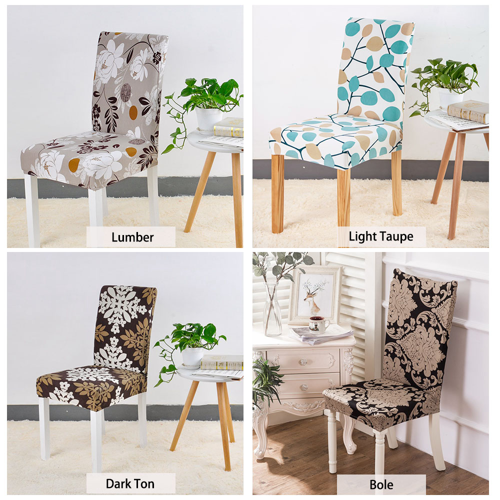 Stretch Printed Design Dining Chair Cover 24 Color (With