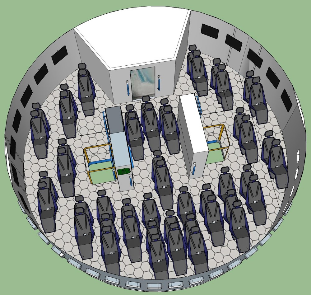 SpaceX Starship interior concept for 100 passengers | Spacex starship ...