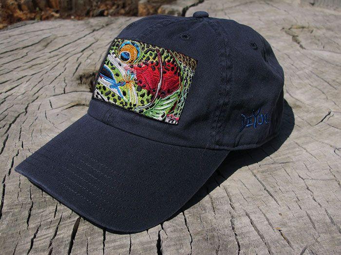 9cc643cfc26b6 DeYoung Rainbow Trout Hat www.derekdeyoung.com