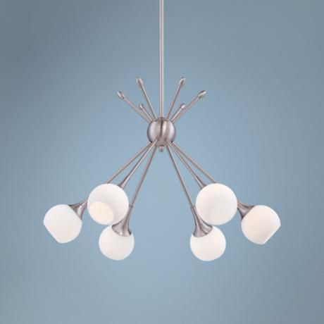 George kovacs pontil 24 wide brushed nickel pendant brushed the pontil collection by george kovacs features the ideal chandelier with clean versatile lines a round glass shade and brushed nickel details are an easy mozeypictures Choice Image