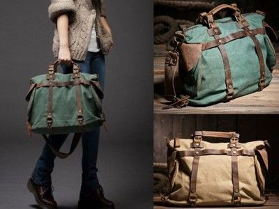 Torba Retro Vintage Skora Naturalna Na Ramie Army 6891913121 Oficjalne Archiwum Allegro Bags Duffle Bag Duffle