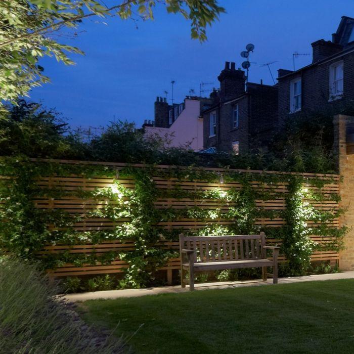 LED Beleuchtung Garten gehweg Mauer Wand   Gartengestaltung ...