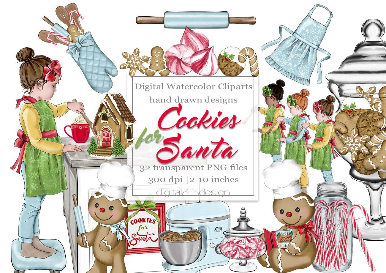 Christmas Cookie Clipart Baking Clip Art Planner Sticker