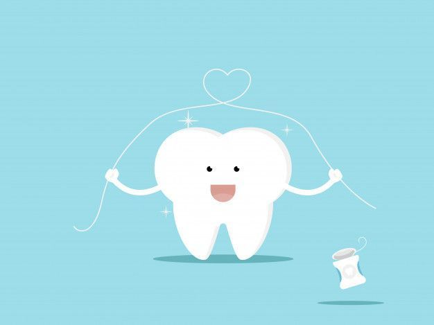 Illustration of tooth and dental floss cartoon vector illustration Premium Vector  Premium Vector character character