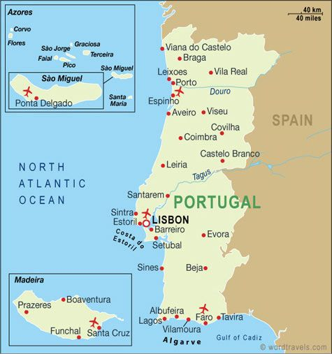 Home Travel International Portugal Map Portugal Holidays