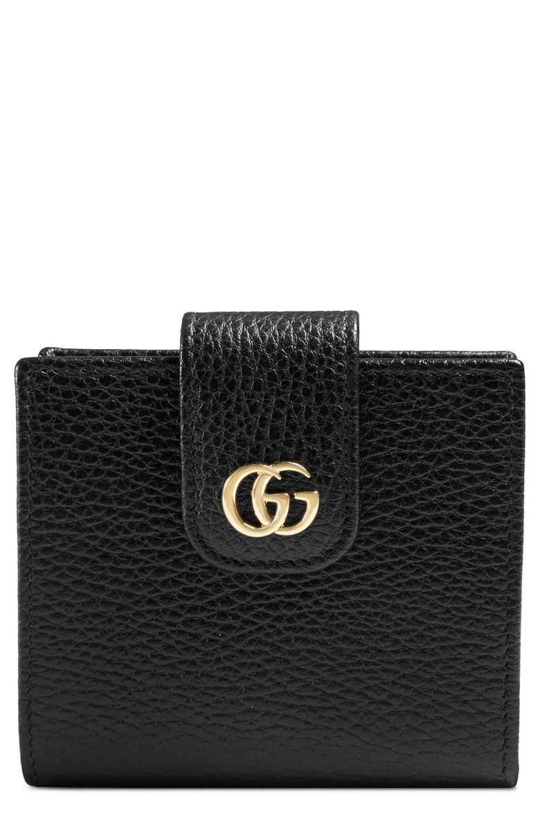 825410c9a Free shipping and returns on Gucci GG Marmont Leather Wallet at  Nordstrom.com. A compact style packed with pockets and slots, this snap  wallet is made from ...