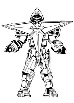 Power Rangers - Ninja star robot coloring page | Color me fun ...