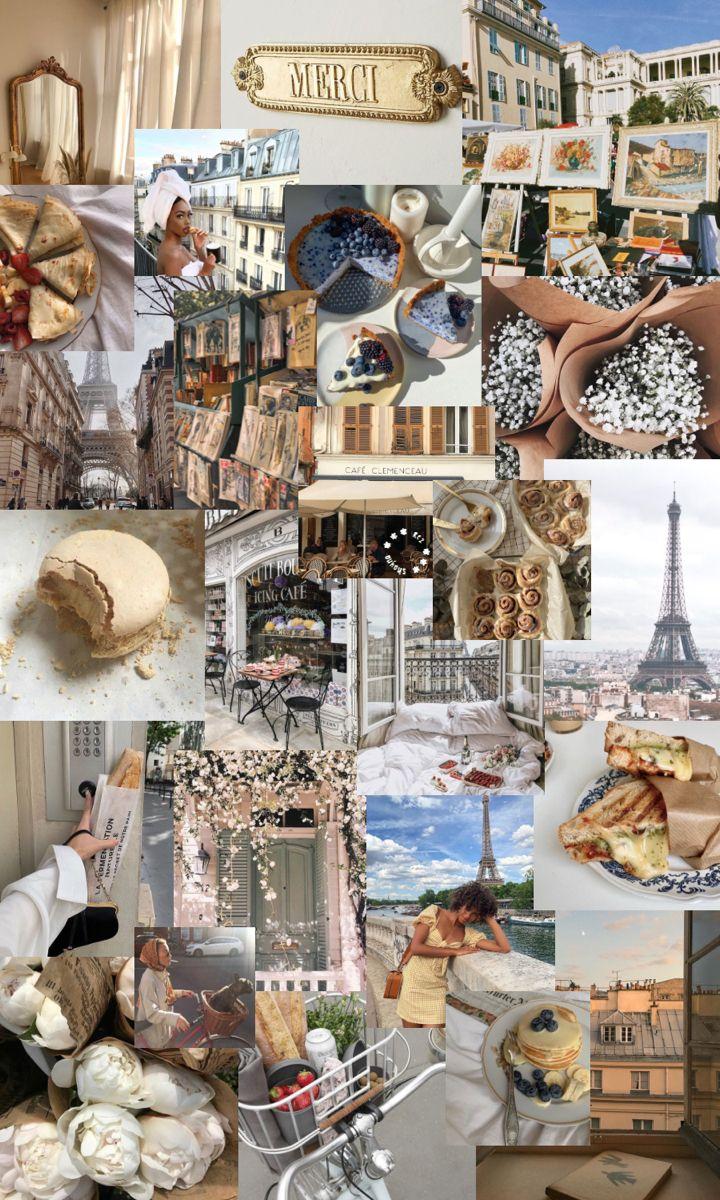 parisian aesthetic iPhone wallpaper