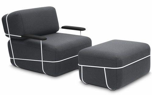 Osko Deichmann Furniture Ottoman Design Chair