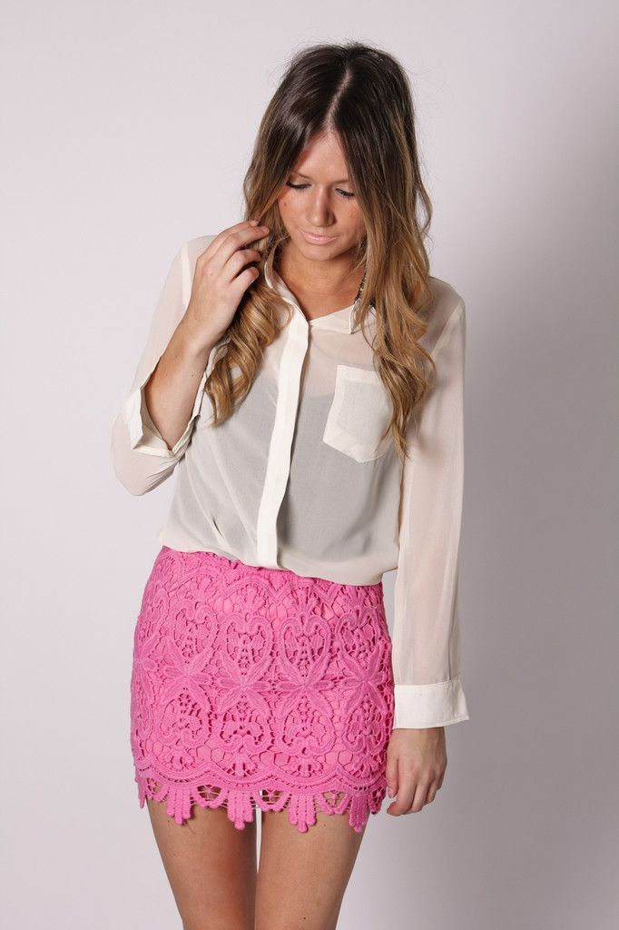 5ab8762af2b bingle lace mini skirt- pink