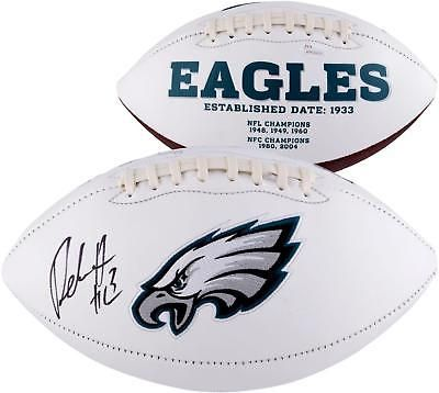 5ce638ee Nelson Agholor Philadelphia Eagles Autographed White Panel Football ...