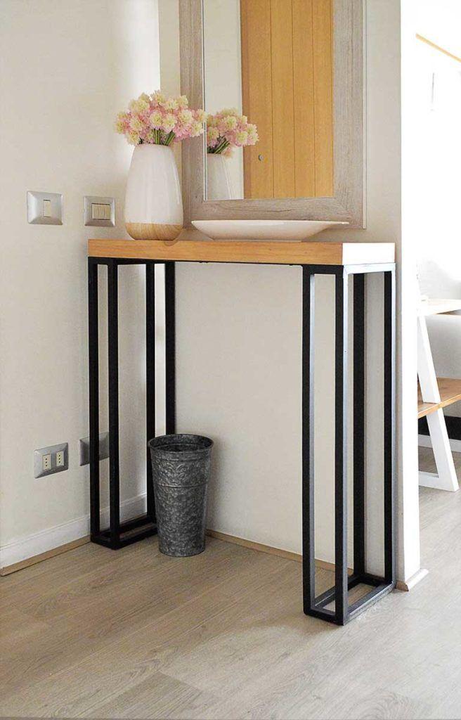 Decoraci n de un living estilo escandinavo recibidor for Muebles industriales metal baratos