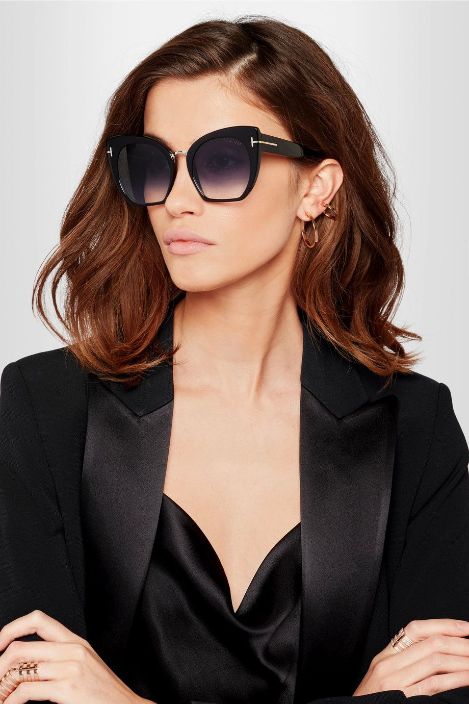 5c3693aa0 TOM FORD - Samantha cat-eye acetate sunglasses in 2019 | Fashion ...