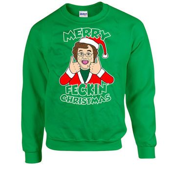 Funny Christmas Sweater Merry Feckin Christmas Mrs Brown