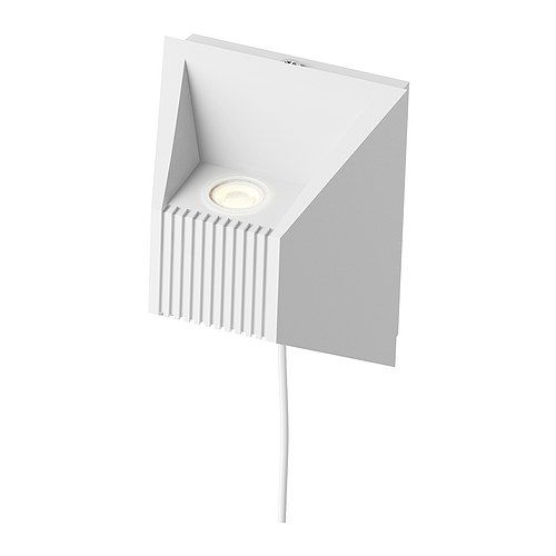 IKEA - VIKT, Lampe murale à LED, , Eclaire vers le haut et le bas.La source lumineuse à LED consomme près de 85% d'électricité en moins et dure 20 fois plus longtemps qu'une ampoule à incandescence.