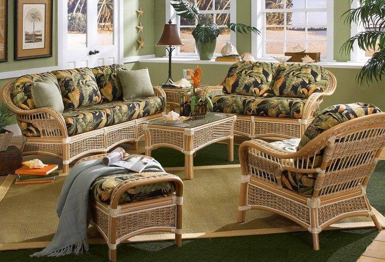 Muebles mimbre dentro y fuera de la casa moderna | Casas modernas ...