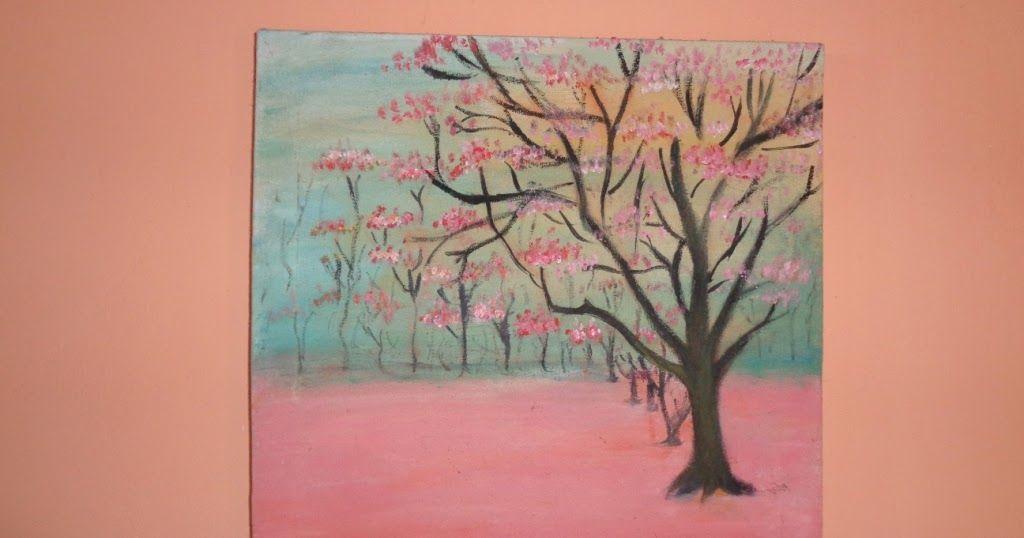15 Lukisan Bunga Sederhana Untuk Pemula Sketsa Bunga Contoh Lukisan Bunga Sakura Download Cara Menggambar Bun Di 2020 Lukisan Bunga Lukisan Bunga Matahari Lukisan