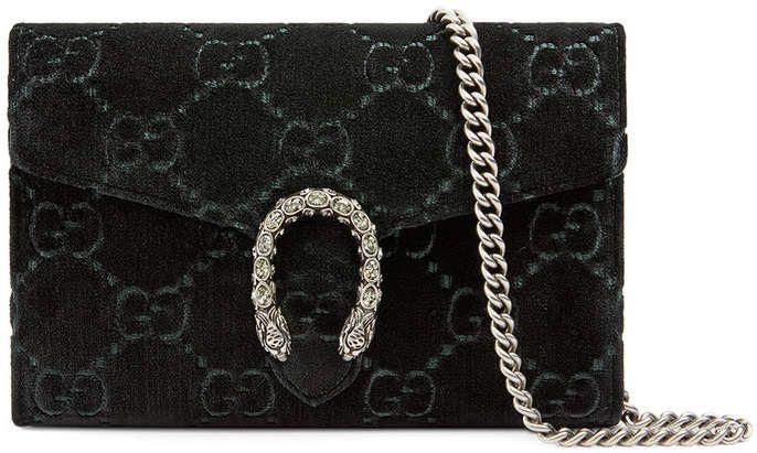 5cd7fa7dd70 Gucci Dionysus GG velvet mini chain wallet