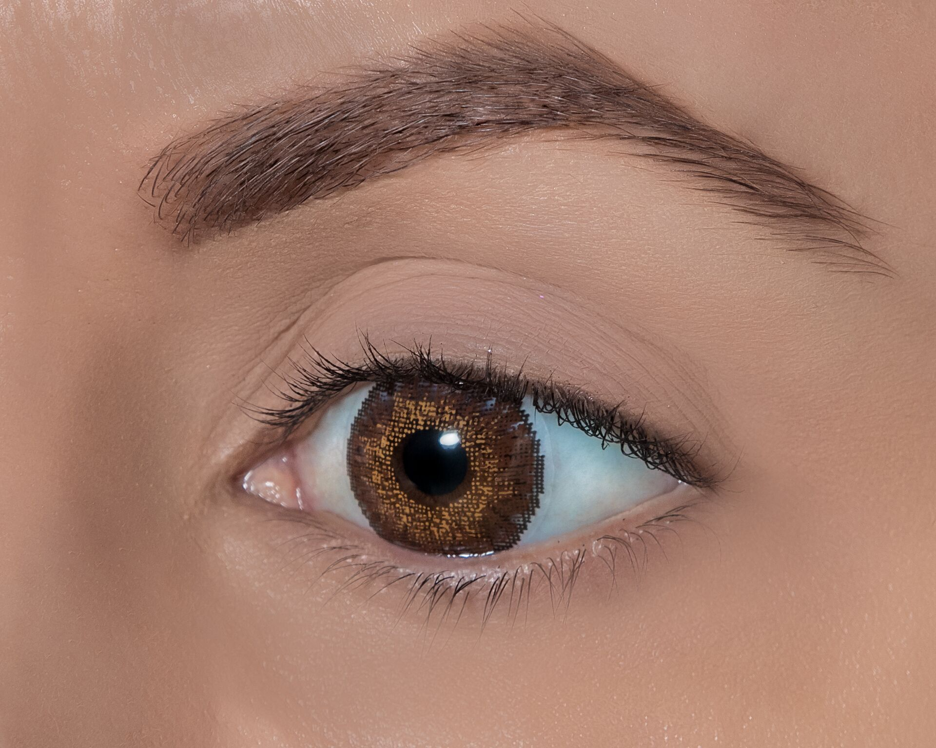 Warm Brown Unique Blending Of Three Colors In One Lens To Create A Subtle Natural Looking Color Contact Lenses Colored Colored Contacts Color