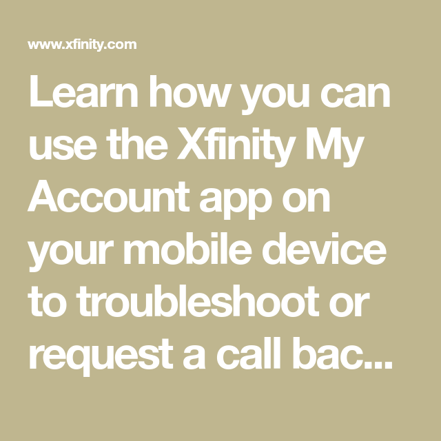 Fix Your Internet Connection Using The Xfinity My Account App My Account App Internet Connections App