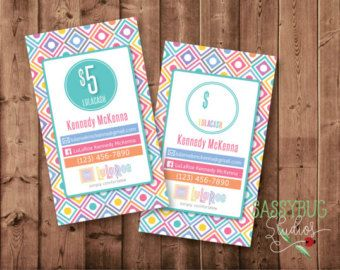 Personalized LuLaRoe Cash Cards (business card size) Each card is one-sided, but there is an option (see image #2) for a back design.  This is a DIGITAL PRINTABLE file for LuLaRoe cash cards with a dot background design. This will be personalized with your information. These are for you to print or have printed professionally.  FEATURES:  ● Home office approved approved LuLaRoe fonts and colors  ● Home office approved approved LuLaRoe logo…