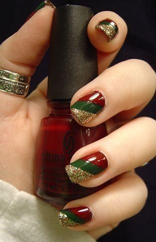 mis uñas para navidad  diseños navideños en uñas
