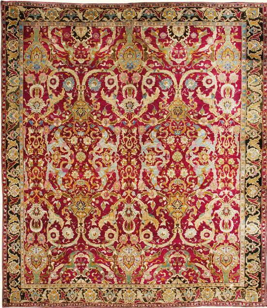 Indian Agra Rug 433 By 379cm 14ft 2in 12ft 5in