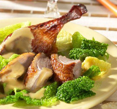 Honig-glasierte Ente